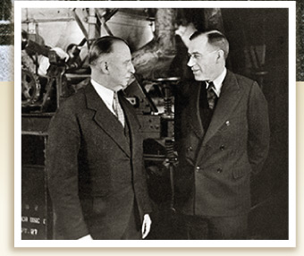 Charles Alliss with William McKnight, 3M President